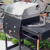 The grill is designed like commercial quality cooking equipment