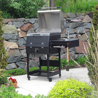 The B1 charcoal grill is designed to go with nice backyard furniture