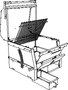 Exploded view of B1 charcoal grill